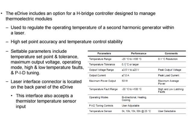 eDrive Internal TEC Controller